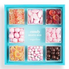 Candy Bento Box BUY IT! $65, Sugarfina Sweetest Mom 8PC Bento  This delicious gift in pretty packaging includes eight beautiful candies for moms with a sweet tooth, including sea salt caramels, Italian rosewater-flavored hard candies, and champagne bears (made with Dom Pérignon Vintage Champagne!)
