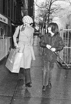 Jacqueline Kennedy Onassis and her son John F. Kennedy Jr., 1973