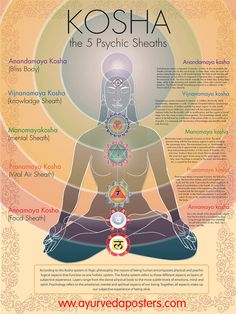 the 5 Koshas are layers of the mind, body and Psyche, like the western model of conscious, sub-conscious and unconscious mind, Yogis describe the Koshas as like layers of an onion, from crude mind, to subtle, and causal or astral mind.