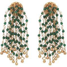 Carousel Jewels - Green Onyx Waterfall Earrings ($165) ❤ liked on Polyvore featuring jewelry, earrings, green onyx jewelry, green onyx earrings and earring jewelry