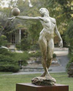 Balance (life size) Paige Bradley Bronze Sculpture 84 x 61 x 43 inches - statue Life Drawing, Figure Drawing, Types Of Photography, Figurative Art, Garden Art, Art Drawings, Street Art, Fine Art, Artwork