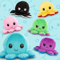 Stocking stuffer idea. Reversible Octopus Mini Plushies TeeTurtle Minis