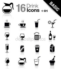 iconswebsite.com icons website Search over +6,500,000 icons , icon set, web icons, logo, business icons, button, people icon, symbol - Basic - Drink Icons