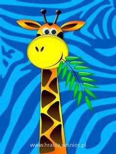 żyrafa-grafika-canvas-dziecko-dekoracja-hrabia-wiśnios-1