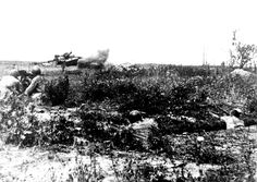 The battle of Kursk.1943 Russian soldiers reflect tank attack the Germans.