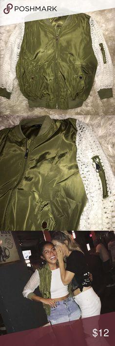 Fashion Nova bomber✨ Really pretty detail on sleeves! Worn once! Fashion Nova Jackets & Coats