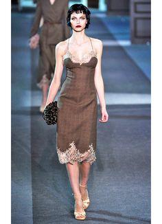 louis vuitton fall 2013 fabulous slip dress with lace trim