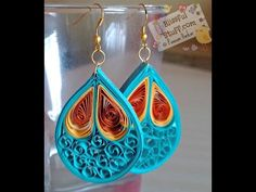 DIY - Quilled paper earrings, Paper quilling earrings tutorial - YouTube