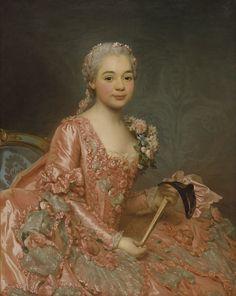 A Dama do Véu, Baronesa de Neubourg-Cromière 1756, Nationalmuseum, Estocolmo Alexander Roslin (15 de julho 1718 - 05 de julho de 1793) pintor de retratos sueco