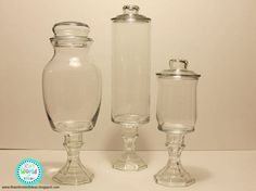 She Buys A Bunch Of Dollar Store Glass. When She Flips Them Over? We Are SO  Making This In Our Kitchen! Apothecary Jars BathroomApothecary ...