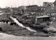 ering tot: 1953-12-31 Beschrijving: De Bakkershaven, gezien in westelijke richting vanaf de Nieuw Mathenesserstraat. In het midden de Bakkershaven. Op de achtergrond de Buitenhaven met in het verlengde van de Bakkershaven de Makkersstraat (tussen Tuinlaan en Buitenhaven).