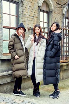 Photo album containing 33 pictures of IZ*ONE Korean Winter Outfits, Winter Fashion Outfits, Ootd Winter, Long Puffer Coat, Japanese Girl Group, Europe Fashion, Puffy Jacket, Kpop Outfits, Anime Outfits