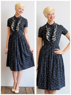 1950s Dress // Evening Light Dress // vintage by dethrosevintage, $118.00