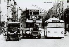 Obus Steglitz:Einige Tage vor der Eroeffnung der Steglitzer Linie (2.5.1935) wurde die Flexibilitaet des Obussystems in der Siemensstrasse mit Wagen 1102 demonstriert.