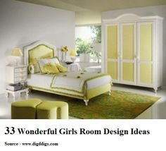 33 Wonderful Girls Room Design Ideas..Discover more decor and organizing ideas for babies to teens @ http://kidsroomdecorating.net