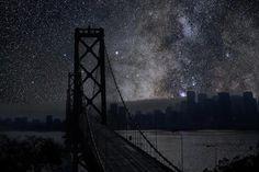 Cómo se verían algunas ciudades sin contaminación atmosférica ni lumínica