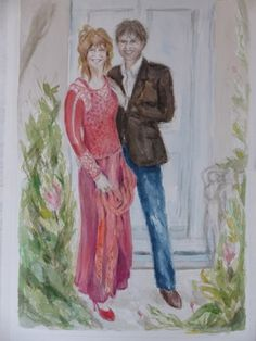 "Saatchi Online Artist Karen Persson; Painting, "" Conny and Henk"" #art"