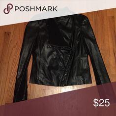 faux leather jacket perfect fit, faux leather jacket. moto style bebe Jackets & Coats