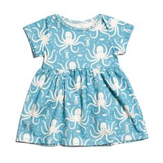 Stockholm Baby Dress - Octopus Turquoise