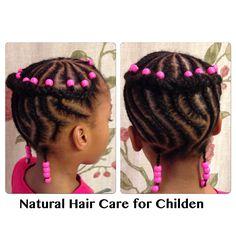 Beads and Braids Cornrows Natural Hair, Big Cornrows, Baby Girl Hairstyles, Cute Hairstyles, Braided Hairstyles, Kids Braids With Beads, Braids For Kids, Natural Hairstyles For Kids, Natural Hair Styles