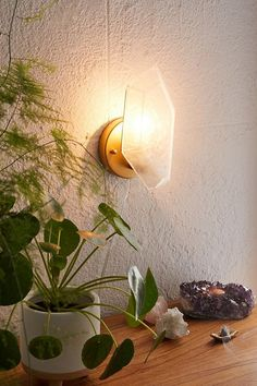 Shop Crystal Resin Sconce at Urban Outfitters today. Crystal Room Decor, Crystal Bedroom, Crystal Aesthetic, Crystals In The Home, Apartment Essentials, Crystal Resin, Crystal Shapes, Dream Apartment, Studio Apartment