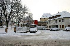 Freie Platz, Rote Haus, Burg und ehemaliges Gasthaus zur Gerste, Rockenberg