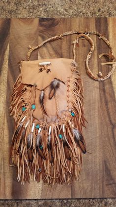 Native American leather bag  Pre order only by TribalTerri on Etsy