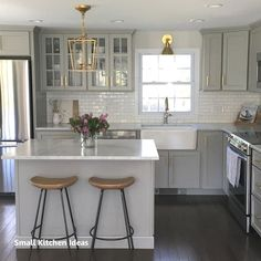 Details about NEW Authentic Visual Comfort Darlana Chandelier Mini Pendant 2175 Open Cage - White Kitchen - Kitchen Beautiful Kitchens, Cool Kitchens, Small Kitchens, Kitchen Small, Dream Kitchens, Kitchen White, 10x10 Kitchen, Narrow Kitchen, White Kitchens