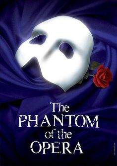 Another London Theatre Poster - The Phantom of the Opera. One of my favourite posters for the elegance, simplicity and colour