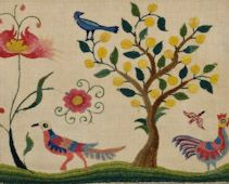Fruit Flowers and Birds III 1700's from the Winterthur Collection