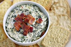 This might be the best cheese dip we' Chopped turnip greens are folded into a cream cheese-sour cream blend, along with fresh Parmesan and a topping of crispy bacon. Ezra Pound Cake recommends chilling the mixed dip for 8 hours before b Great Appetizers, Appetizer Recipes, Turnip Recipes, Turnip Greens, Cream Cheese Dips, Best Cheese, Green Cream, Southern Recipes
