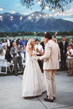 The mountains make such a spectacular backdrop for an outdoor summer wedding.