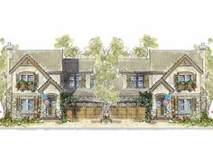 French Country House Plan with 3802 Square Feet and 8 Bedrooms(s) from Dream Home Source   House Plan Code DHSW23098