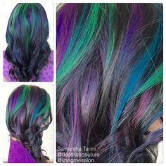 Multicolored highlights done by Samantha Tarini