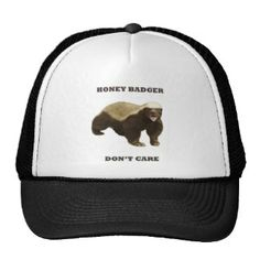 Honey Badger Don't Care Trucker Hats Honey Badger, Trucker Hats, Popular Colors, Don't Care, Hot Pink, Red, Blue, Stuff To Buy, Style