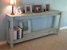 Rustic Pallet Sofa Side Table- 26 DIY Pallet Side Table | DIY to Make