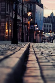 Polished cobbles in Paris.