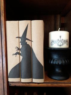 Halloween Book Decor Spooky Book Bundle Vintage by PaperDoxie