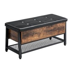 Williston Forge | Wayfair.ca Chesterfield, Put On Your Shoes, Shoe Bench, How To Store Shoes, Rustic Bench, At Home Store, Contemporary Furniture, Industrial Style, Wood Furniture