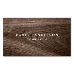 Dark wood grain professional profile business card. This great business card design is available for customization. All text style, colors, sizes can be modified to fit your needs. Just click the image to learn more!