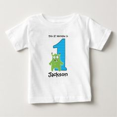 Shop for the best Baby baby t-shirts right here on Zazzle. Upgrade your child's wardrobe with our stylish baby shirts. Baby Shirts, T Shirts, Tees, Monster First Birthday, Stylish Baby, Little Monsters, Consumer Products, First Birthdays, Shirt Designs