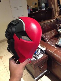 Red hood helmet Mk II by SynTheHunter on deviantART