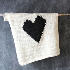 Knitted Heart Baby Blanket