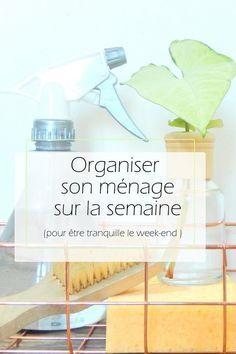 Organiser son ménage à la semaine Diy Organisation, Organization Bullet Journal, Life Organization, Notebook Organisation, Organizing Tips, Organising, Flylady, Burn Out, Home Management