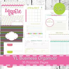 Young Living Business Planner Organizer Notebook Printables - Mod Theme - Letter Sized