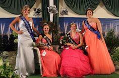 2011 Fair Princess Jenna Fague, 2012 Fair Princess Michaella, 2012 Fair Queen Keri Wolfe & 2011 Fair Queen Hannah Strohm