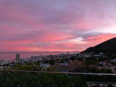 sunset over Fresnaye, Atlantic Seaboard, Cape Town