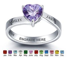Hey, I found this really awesome Etsy listing at https://www.etsy.com/listing/470705813/personalized-birthstone-ring-custom