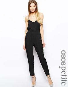 the black one-shoulder jumpsuit - ASOS Black Jumpsuit with One Shoulder Detail Jumpsuit Elegante, Tb Dress, Dress Pants, Belle Silhouette, One Shoulder Jumpsuit, Look Fashion, Womens Fashion, Fashion Black, Latest Fashion