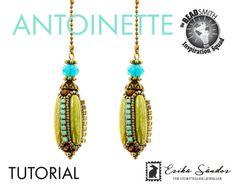 Antoinette beaded bead tutorial pdf + video